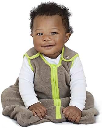 baby deedee Sleep Nest Fleece Brand Sleeping Bag, Khaki/Lime, Medium (6-18 months)