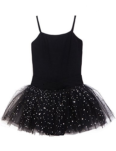 Tutu Leotard for Girls by MdnMd (8-10 Years,Black) (Dance Costumes/ Wear)