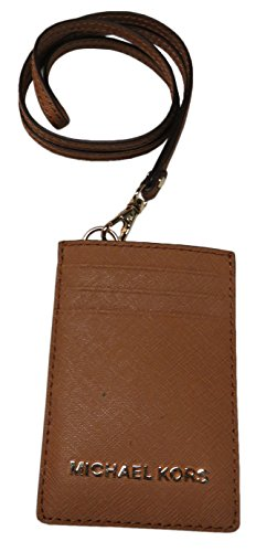 Michael Kors Jet Set Travel Saffiano Leather Lanyard ID Card Case - Kors Lanyards Michael