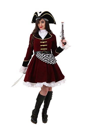 Fun Costumes Captain Hook Costume With Hat 4x (Captain Hook Adult Costume)