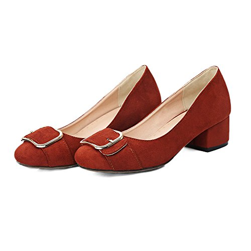 Prom Tacones Zapatos Bombas Boda Corte Boca Superficial Qin Redonda Puntera Red Mujer amp;x Bloque wPxqg6vC