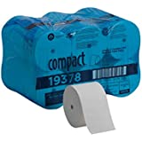Compact Coreless 2-Ply Recycled Toilet Paper by GP PRO (Georgia-Pacific), 19378, 1500 Sheets Per Roll, 18 Rolls Per Case