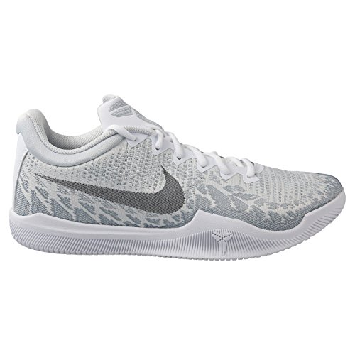 Nike Men's Kobe Mamba Rage Basketball Shoes (9.5, White/Black/Pure Platinum)