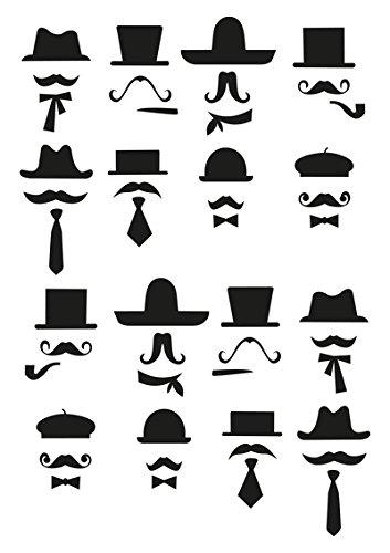 """Disagu Design Case Coque pour Apple iPhone 7 Plus Housse etui coque pochette """"Black Moustache"""""""
