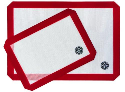 StarPack Silicone Baking Mat Set (2 Piece) - 1 x Half Sheet, 1 x Qtr Sheet - Bonus 101 Cooking Tips