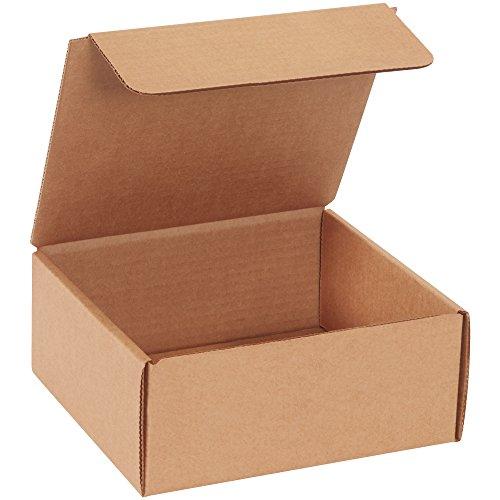 Cajas rápido bfmibm1mk literatura de cartón corrugado sobres, 71/2x 7x 31/4inches, Tuck parte superior de una...