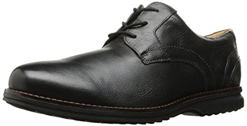 Rockport Mens Premiumklassen Plaintoe Oxford Svart Läder