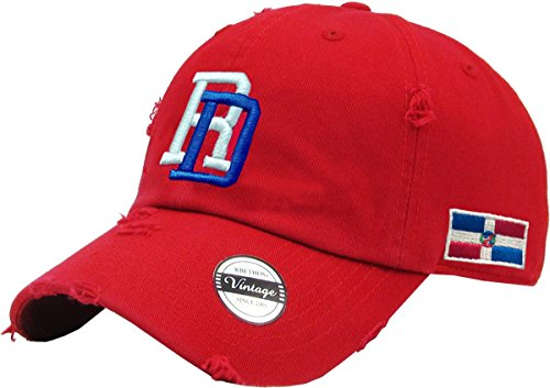 Vintage Adjustable Cap Dominican Republic RD (Red)