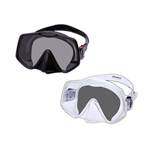 Image of Atomic Aquatics Frameless 2 Mask (Clear, Large Fit)
