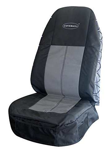 Highback COVERALLs Seat Cover - Black/Gray
