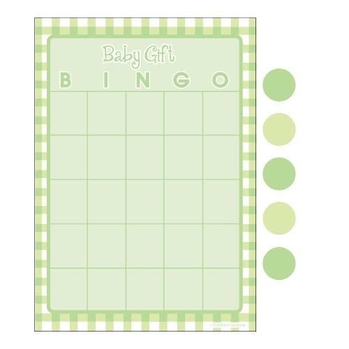 Creative Converting Baby Shower Green Gingham 10 Count Bingo (Halloween Bingo Games)