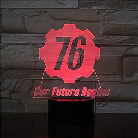 Fallout 76 nuestro futuro comienza USB 3D LED Luz nocturna Niños ...