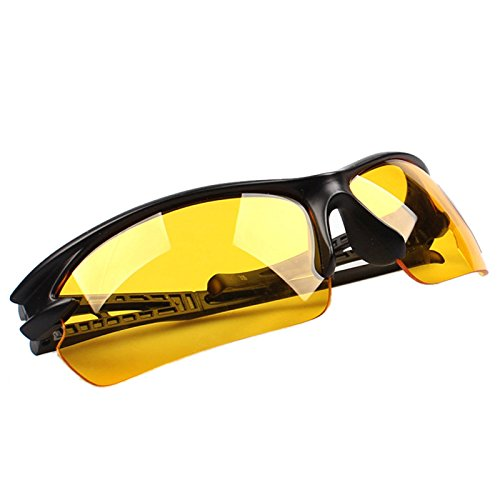 EraseSIZE Night-Vision Goggles Sports Sunglasses Polarized Glasses Riding Mirror With Unbreakable Frame for Men and Women Cycling Biking and Driving (Yellow)