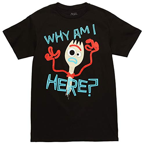 Toy Soldier Clothing (Toy Story Forkie Why Am I Here Adult T-Shirt - Black)