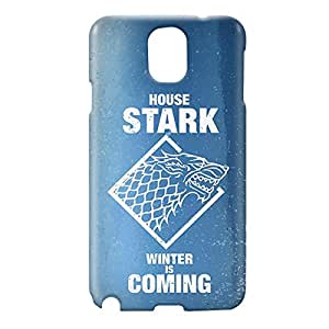 Loud Universe Samsung Galaxy Note 3 3D Wrap Around House Stark Print Cover - Blue