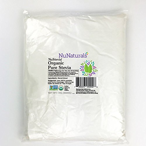 NuNaturals - NuStevia - Organic Pure Stevia (1 Kilo) by NuNaturals