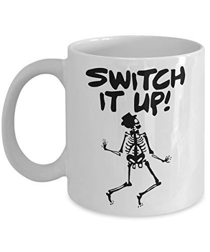 Dancing Skeletons Mug Funny Gag Gift Coffee Tea Cup White 11 oz ()