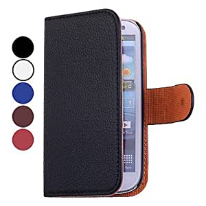 RC - Solid Color Full Body PU Leather Case for Samsung S3 I9300 , White