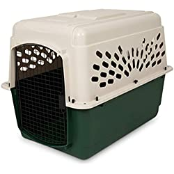 Petmate Ruffmaxx Travel Carrier Outdoor Dog Kennel 360-degree Ventilation Almond/Green 6 sizes