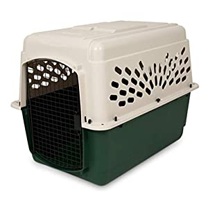 Petmate Ruffmaxx Travel Carrier Outdoor Dog Kennel 360-degree Ventilation Almond/Green 6 sizes 92