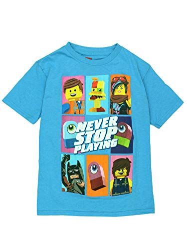 Price comparison product image Lego Movie 2 The Second Part Boys Girls Short Sleeve Tee (4,  Blue)