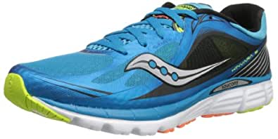 Saucony Men's Kinvara 5 Running Shoe,Blue/Black/Citron,8 M US