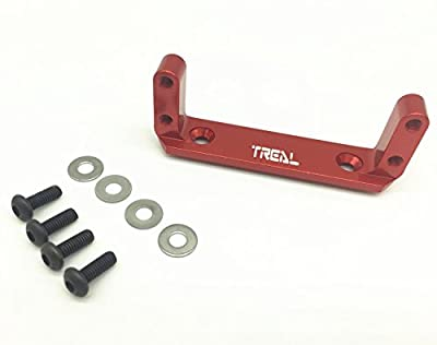Treal Alloy Axle Servo Mount for Axial Wraith RC Model Hop-ups - Red