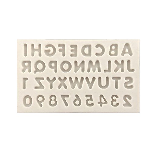 Alphabet Numeral Silicone Mold,Jewelry Polymer Clay, Crafting, Resin Epoxy, Pendant Making, DIY Fashion Decoration Tools Fondant Cake Mold