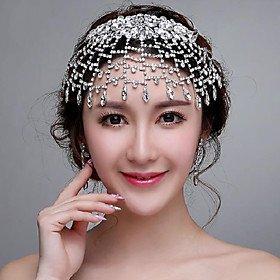 FLOW ZIG Romantic Rhinestones Wedding/Party Headpieces/Forehead Jewelry