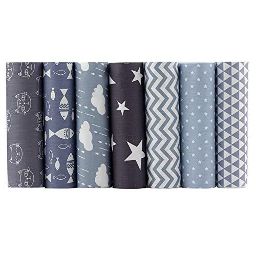 Shuan Shuo Gray Series Cotton Fabric Quilting Patchwork Fabric Fat Quarter Bundles Fabric For Sewing DIY Crafts Handmade Bags Pillows 40X50cm 7pcs/lot