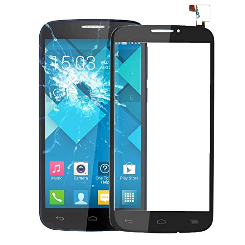 LIYONG Replacement Spare Parts Touch Panel for Alcatel One Touch Pop C7 / 7040/7041(Black) Repair Parts (Color : Black) (Alcatel One Touch Pop C7)