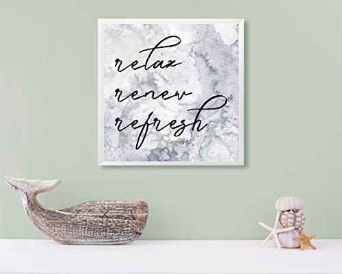 12x12 Relax Renew Refresh Canvas Print