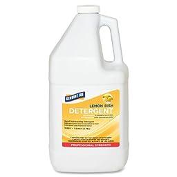 Genuine Joe GJO10359 Lemon Scent Gallon Dish Detergent, 128oz