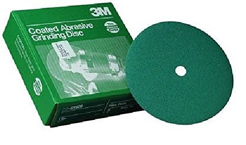 3M 01927 Green Corps 9-1/8'' x 7/8'' 50 Grit Fiber Disc