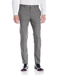 Kenneth Cole Reaction Men's Premium Solid Flat-Front Gabardine Dress Pant