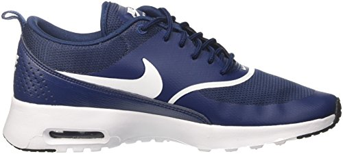 Thea Max 419 Bleu Femme Air black White Navy Baskets NIKE E5n4fqf