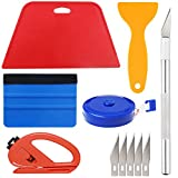Tools & Hardware : Wallpaper Smoothing Tool Kit Include red Squeegee,Medium-Hardness Squeegee, Black Tape Measure,snitty Vinyl Cutter and Craft Knife with 5 Replacement Blades for Adhesive Contact Paper Application Win