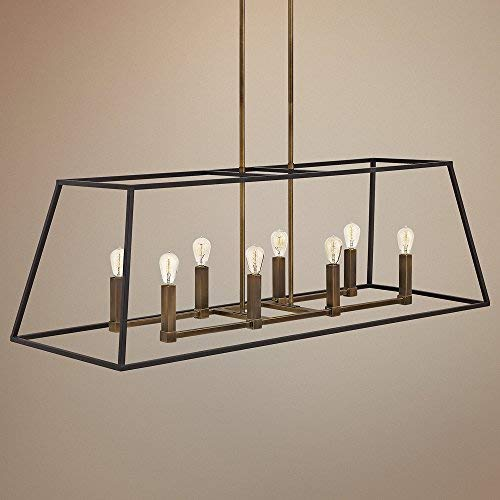 Hinkley 3338BZ Restoration Eight Light Stem Hung Linear from Fulton collection in Bronze/Darkfinish, by Hinkley (Image #3)