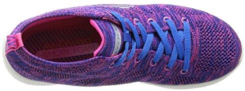 Skechers Sport Damen Burst Divergent Demi Boot Sneaker Lila-blau