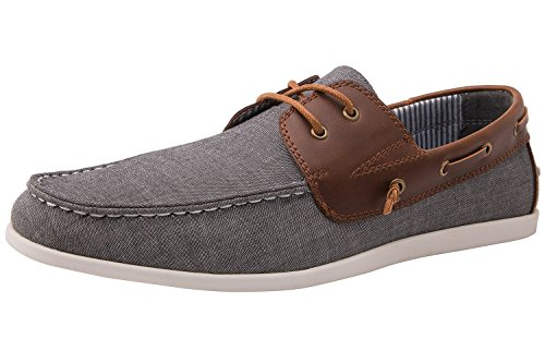 GLOBALWIN 1810 Mens Brown Grey Casual Boat Shoes 9 M