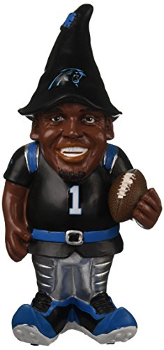 FOCO NFL Carolina Panthers Cam Newton #1 Resin Player Gnome, 8'', Team Color by FOCO
