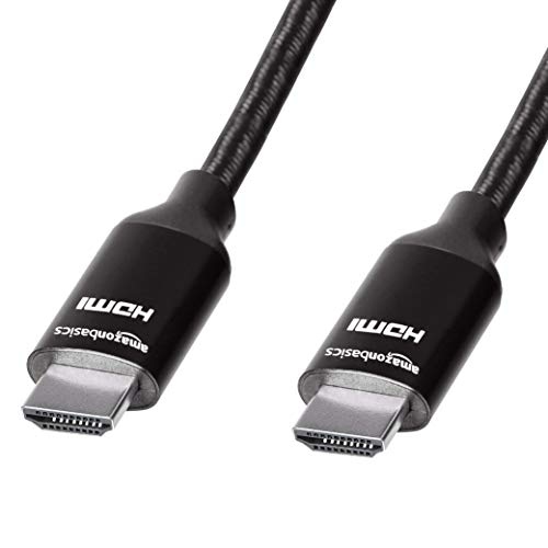 AmazonBasics 10.2 Gbps High-Speed 4K HDMI Cable with Braided Cord, 3-Foot, Black