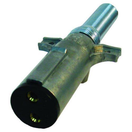 Tectran 670-27SG Dual Pole Plug & Socket Tarp Systems Connector, Vertical Plug Assembly with Spring Guard Crimp Termination by Tectran
