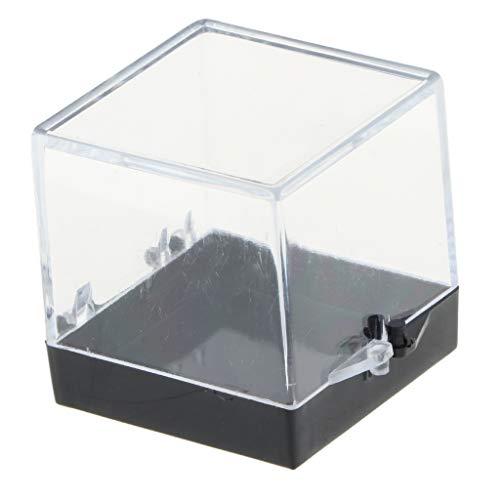 [해외]불꽃 보석 컬렉션 클리어 디스플레이 케이스 작은 아크릴 상자 1.2 인치 x 1.2 인치 / Flameer Gemstone Collection Clear Display Show Case Small Acrylic Box 1.2x1.2x1.4