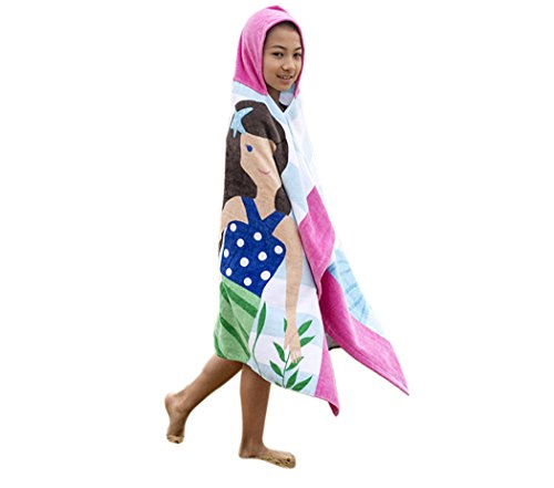 Chicone Boy and Girl's Hooded Bath Towel Changing Bath Robe for Children -