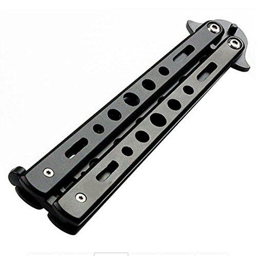 Icetek Sports Metal Practice Bali Song Butterfly Trainer Knife, Black