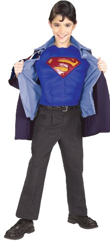 Clark Kent to Superman Muscle Chest Child's Costume, (Superman Clark Kent Costume)