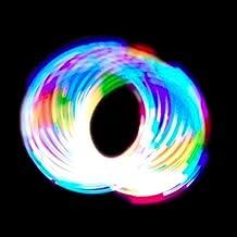 GloFX 6-LED Rave Toy Orbit: Light Rainbow Spinning Lightshow Orbital Toy Super Bright EDM Festivals