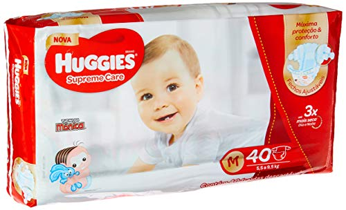 Huggies Pacote Mensal Supreme Care Mega M, 240 Fraldas