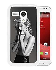 Fashionable Custom Designed Cover Case For Motorola Moto G With Ellie Goulding White Phone Case